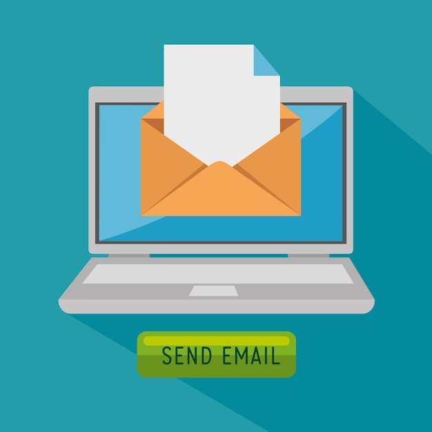 E-mail-marketing-internet-werbung Premium Vektoren
