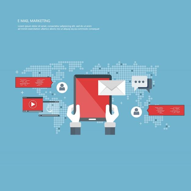 E-mail-marketing-konzept Premium Vektoren