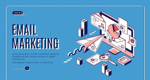 E-mail-marketing-zielseite, spammerdienste Kostenlosen Vektoren