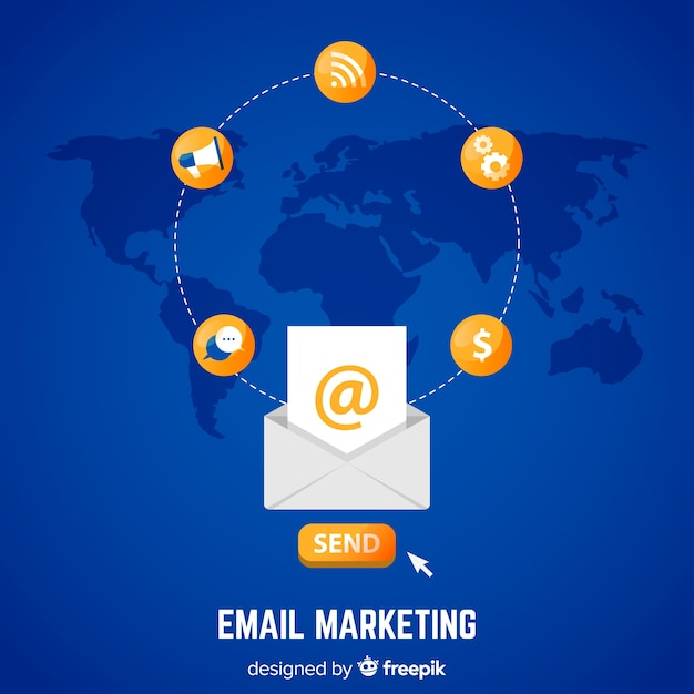 E-mail marketing Kostenlosen Vektoren