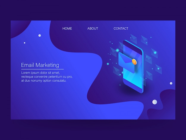 E-mail marketing Premium Vektoren