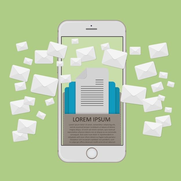 E-mail-marketingkonzept Premium Vektoren