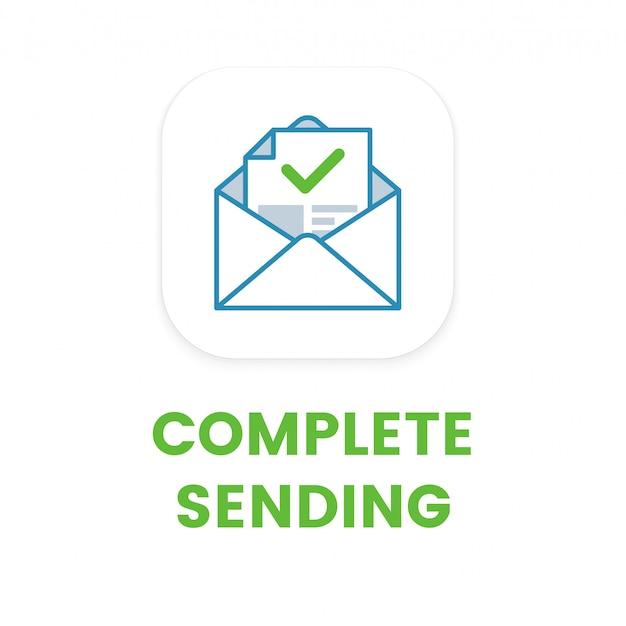 E-mail-symbol für das vollständige senden Premium Vektoren