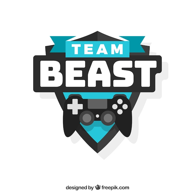 E-Sport-Team-Logo-Vorlage mit Joystick | Download der kostenlosen Vektor