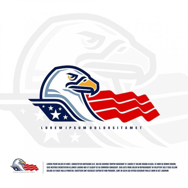Eagle head logo illustration premium Premium Vektoren