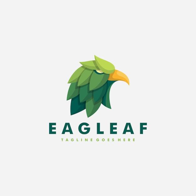 Eagle leaf-illustrationsvektor entwurfsvorlage Premium Vektoren