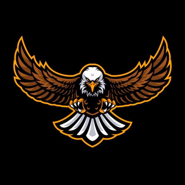 Eagle-logo für eine sportmannschaft Premium Vektoren