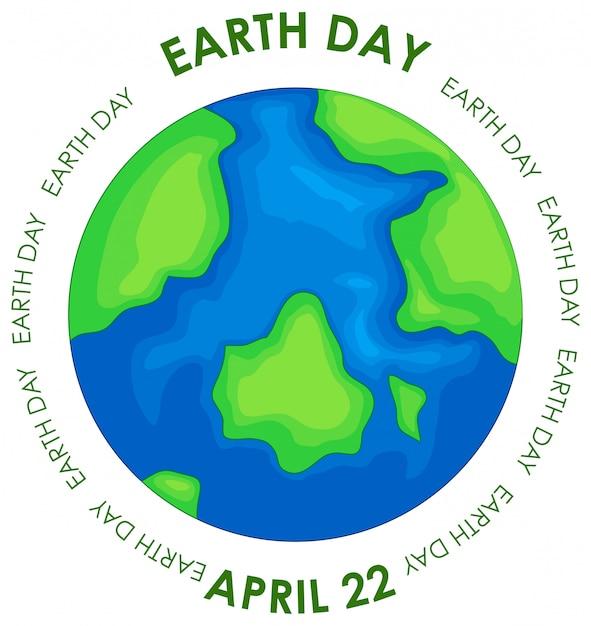 Earth day konzept poster Kostenlosen Vektoren