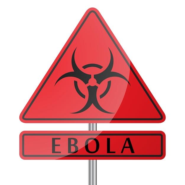 Ebola gefahrenzeichen Kostenlosen Vektoren