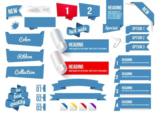 Ecken und bänder Premium Vektoren