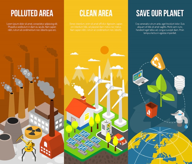 Eco-banner-konzept Kostenlosen Vektoren