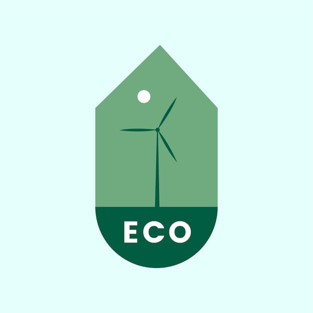 Eco freundliche alternative energie-symbol Kostenlosen Vektoren