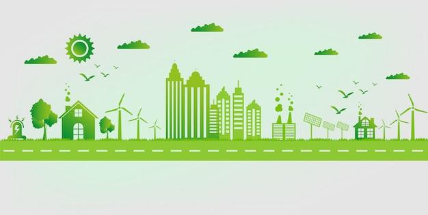Eco freundliches konzept Premium Vektoren