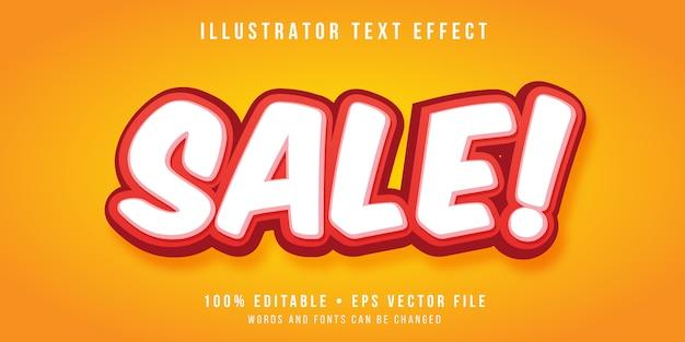Editierbarer texteffekt - super verkaufsstil Premium Vektoren