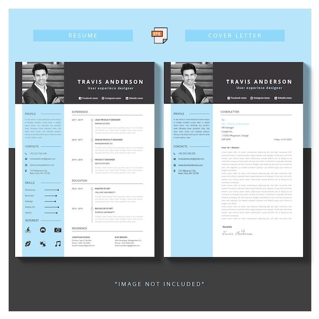 Editierbares cv-format download und anschreiben Kostenlosen Vektoren