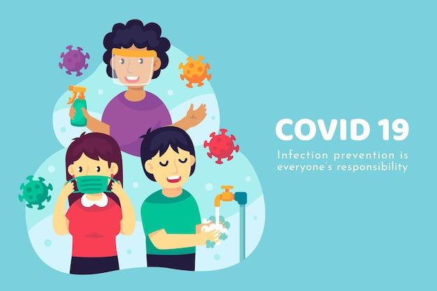 Effektive methoden zur vorbeugung von coronavirus Kostenlosen Vektoren