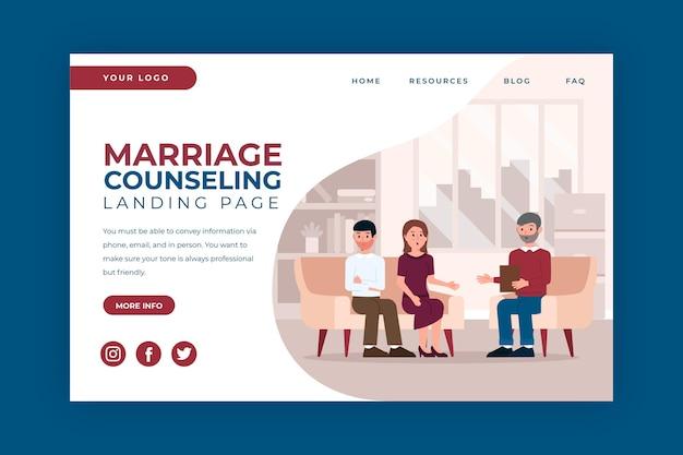 Eheberatung - landing page Kostenlosen Vektoren