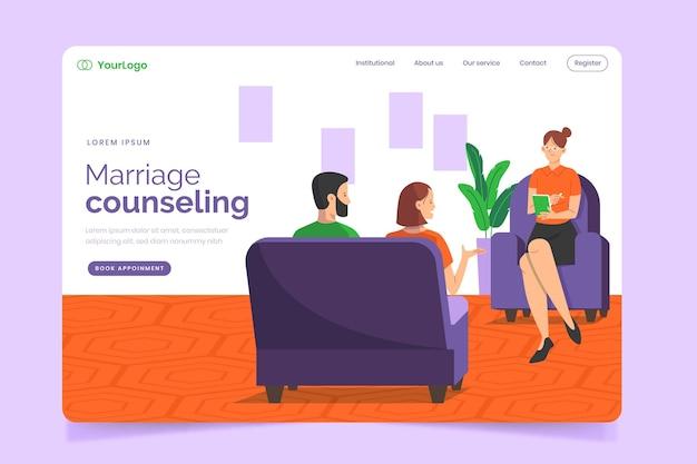 Eheberatung - landing page Premium Vektoren