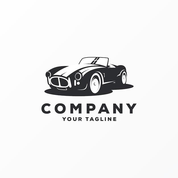 Ehrfürchtiger autologodesignvektor Premium Vektoren