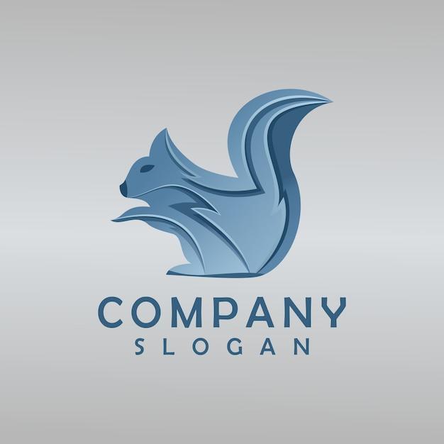 Eichhörnchen-logo-design Premium Vektoren