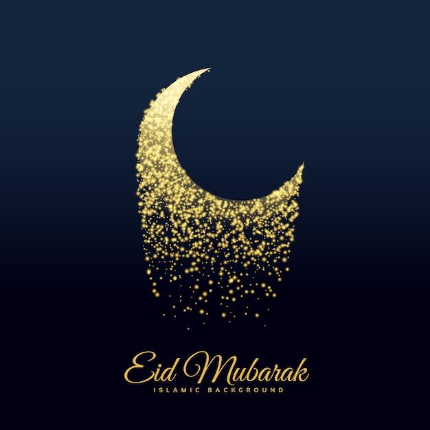 Eid festival mond mit glitzern gemacht Kostenlosen Vektoren