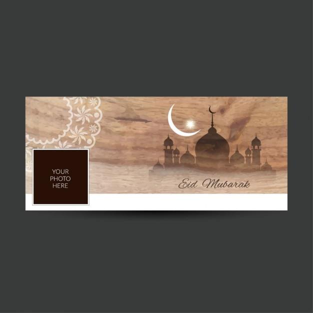 Eid mubarak facebook timeline abdeckung Kostenlosen Vektoren