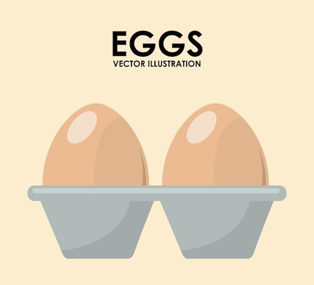Eier abbildung Kostenlosen Vektoren