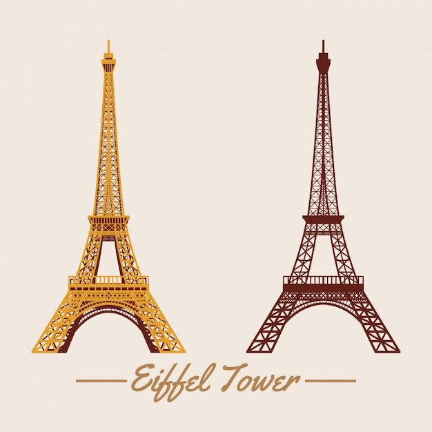 Eiffelturm Premium Vektoren