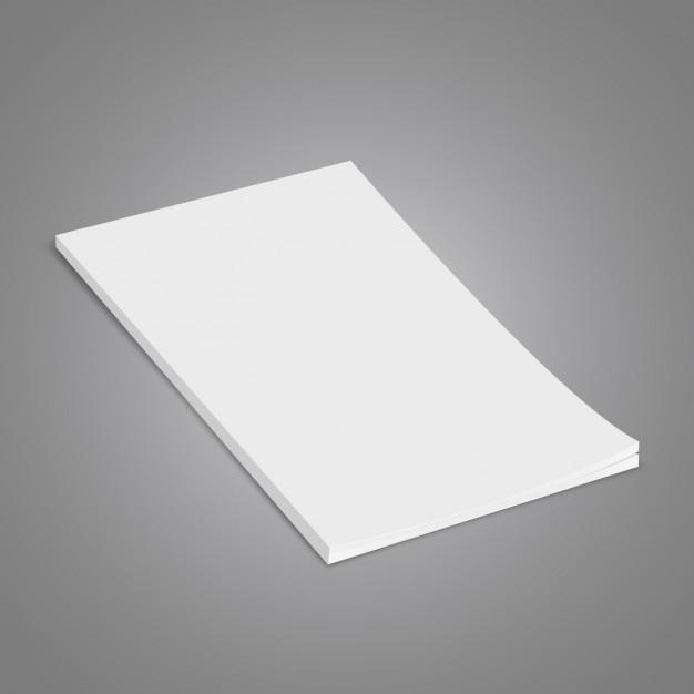 Ein blatt papier Kostenlosen Vektoren