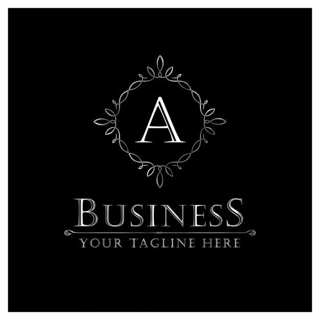 Ein brief logo in ornamentalen stil Kostenlosen Vektoren