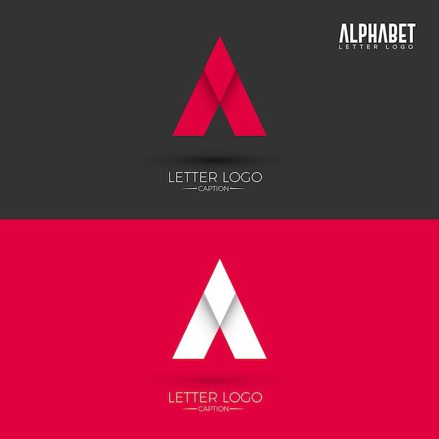 Ein brief origami style logo Premium Vektoren