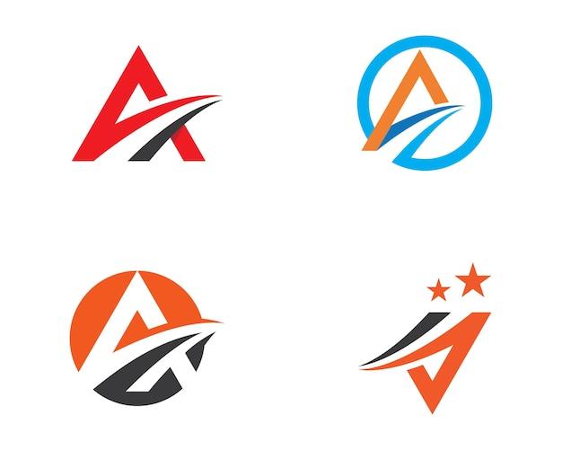Ein brief schneller logo-vorlage Premium Vektoren