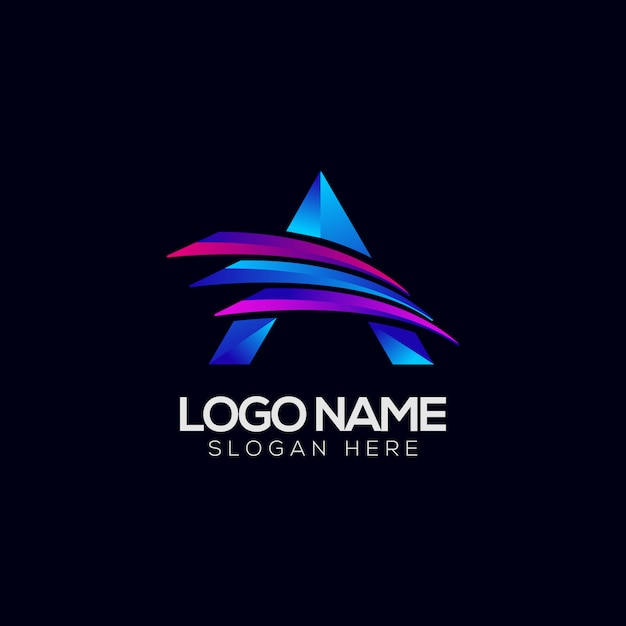 Ein buchstabe-zusammenfassungs-buntes logo Premium Vektoren