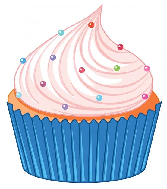 Ein cupcake isoliert Kostenlosen Vektoren