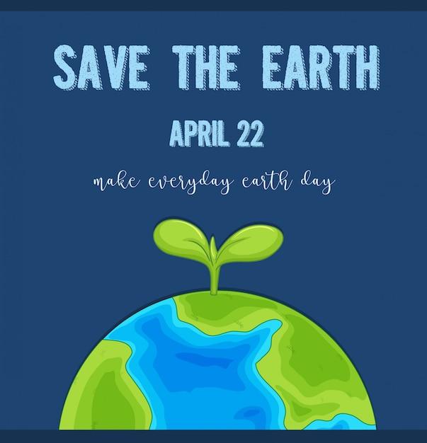 Ein earth day logo Kostenlosen Vektoren