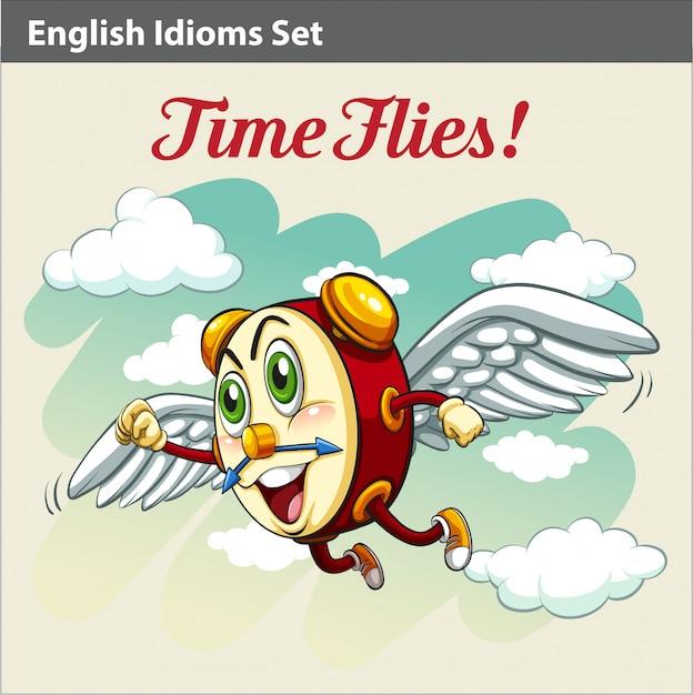 Ein englisches idiom Premium Vektoren