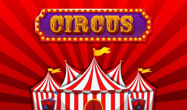 Ein fantasy-zirkus-banner Kostenlosen Vektoren