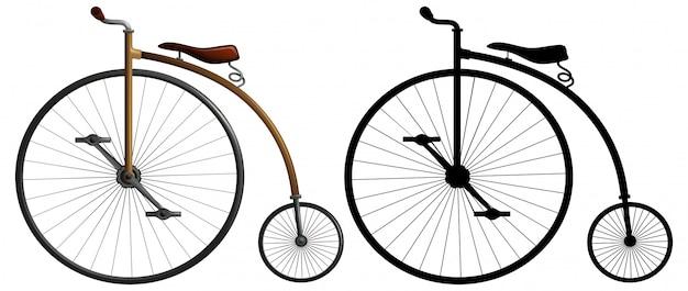 Ein high wheeler bike Kostenlosen Vektoren
