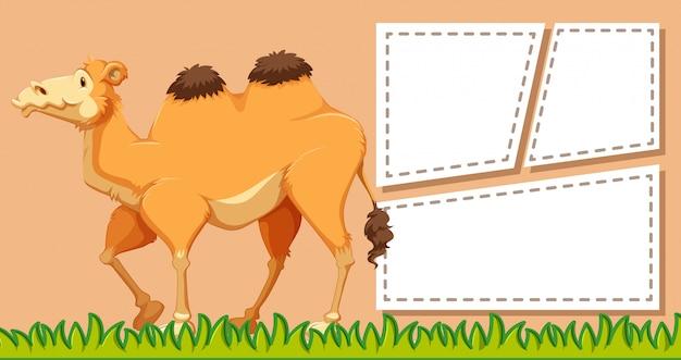 Ein kamel auf leere notiz Kostenlosen Vektoren