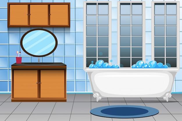 Ein modernes badezimmer interieur Kostenlosen Vektoren