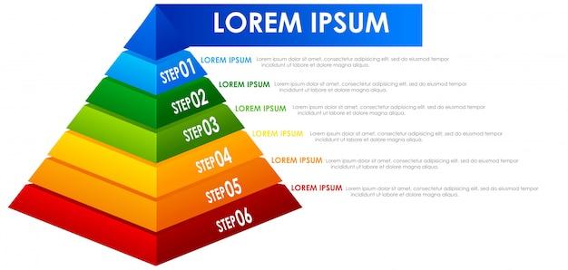 Ein regenbogenpyramin infographic Kostenlosen Vektoren