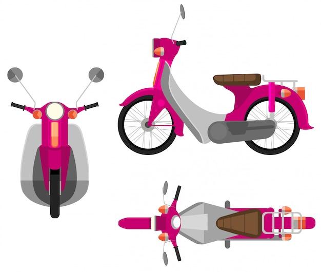Ein rosa kraftfahrzeug Kostenlosen Vektoren