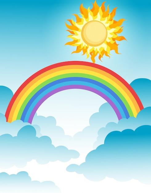 Ein sch ner regenbogen ber dem himmel download der - Image arc en ciel gratuite ...