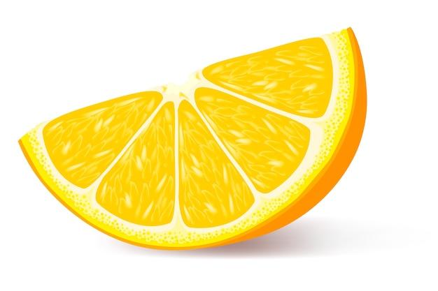 Ein stück orange illustration Premium Vektoren