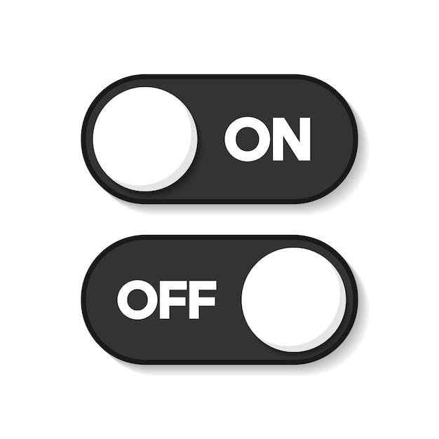 Ein und aus symbol bearbeitbar. schaltknopfvektorzeichen Premium Vektoren