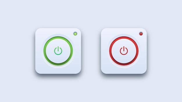 Ein- und ausschalten von symbolen Premium Vektoren