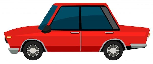 Ein vinatge-auto auf weißem hintergrund Kostenlosen Vektoren
