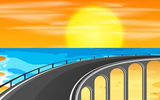 Eine autobahn zum strand Premium Vektoren