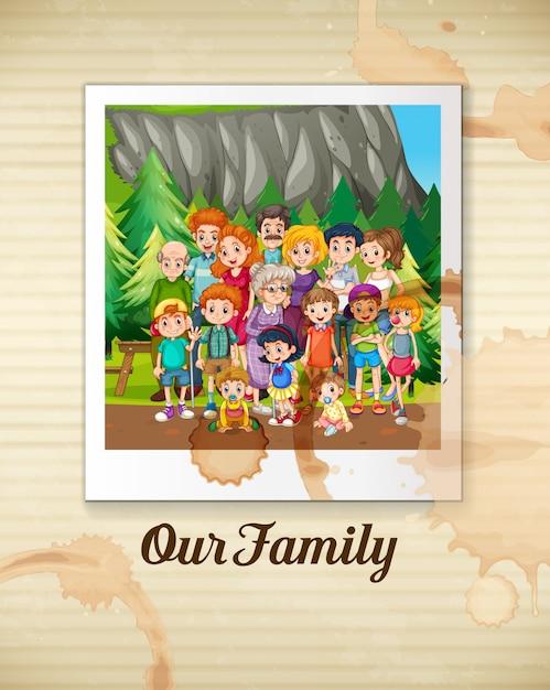 Eine familie Premium Vektoren