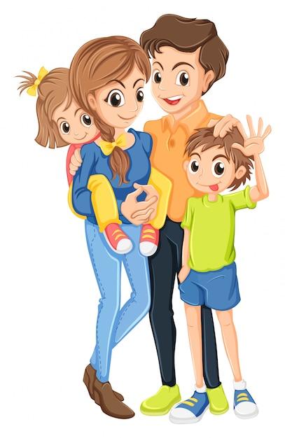 Eine familie Kostenlosen Vektoren